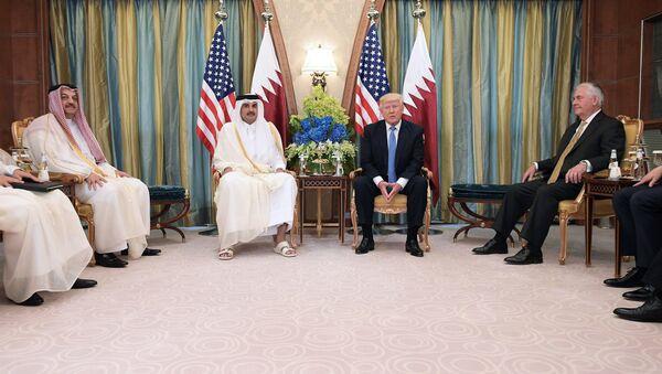 Donald Trump ve Katar Emiri Şeyh Temim bin Hamad Al Sani - Sputnik Türkiye