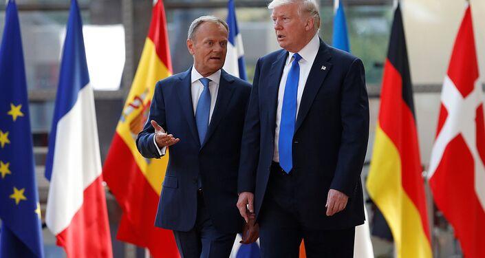 ABD Başkanı Donald Trump ve Avrupa Konseyi Başkanı Donald Tusk