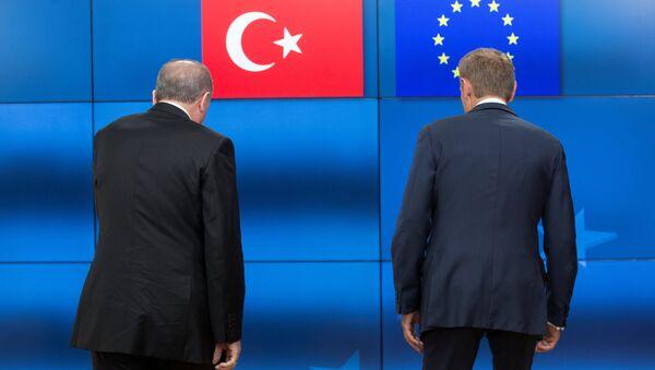 Cumhurbaşkanı Recep Tayyip Erdoğan- AB Konseyi Başkanı Donald Tusk - Sputnik Türkiye