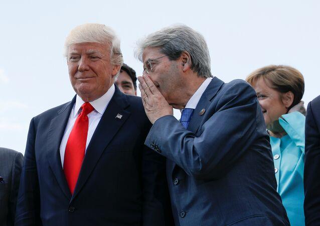 ABD Başkanı Donald Trump- İtalya Başbakanı Paolo Gentiloni- Almanya Başbakanı Angela Merkel