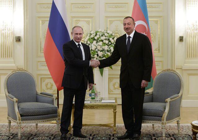 Azerbaycan Cumhurbaşkanı İlham Aliyev- Rusya Devlet Başkanı Vladimir Putin