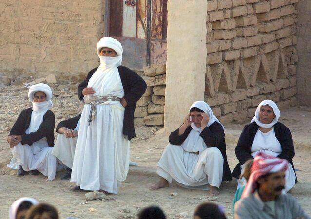 Bir grup Iraklı Ezidi kadın
