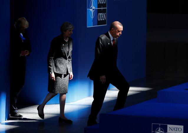 Donald Trump - Theresa May - Recep Tayyip Erdoğan