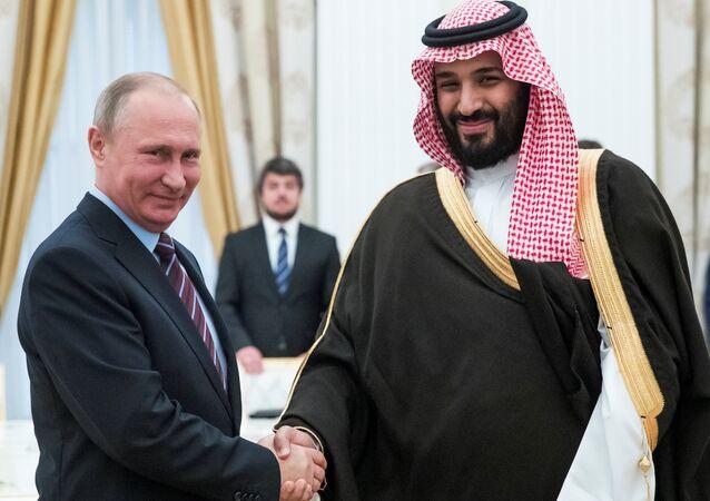 Rusya Devlet Başkanı Vladmir Putin ve Suudi Arabistan'ın 2. Veliaht Prensi ve Savunma Bakanı Muhammed Bin Selman