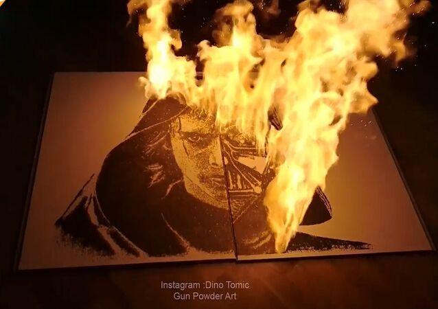 Dövme sanatçısı, tuz ve barutla inanılmaz tablolar yapıyor