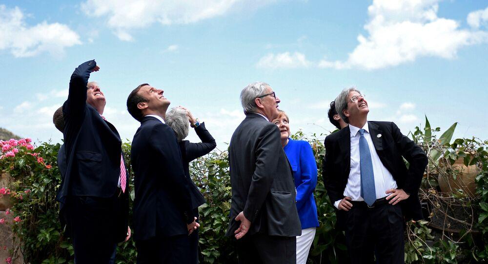 G7 Liderler Zirvesi / Donald Trump - Emmanuel Macron - Theresa May - Jean Claude Juncker - Angela Merkel - Paolo Gentiloni