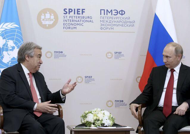 Antonio Guterres-Vladimir Putin