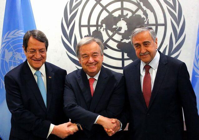 Mustafa Akıncı - Antonio Guterres - Nikos Anastasiadis / Kıbrıs
