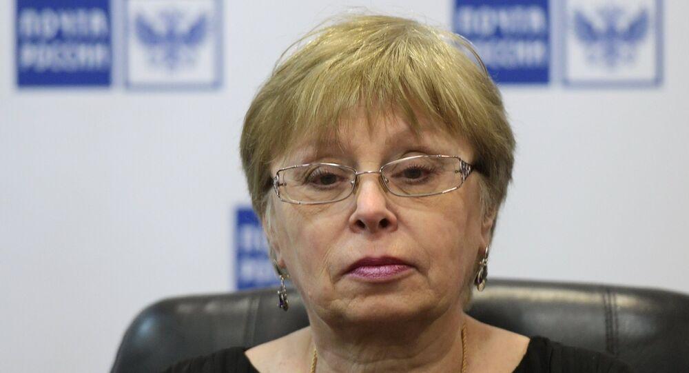 Andrey Karlov'un eşi Marina Karlova.