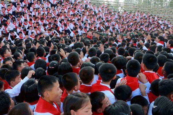 Kuzey Kore'de Çocuk Bayramı kutlamaları - Sputnik Türkiye
