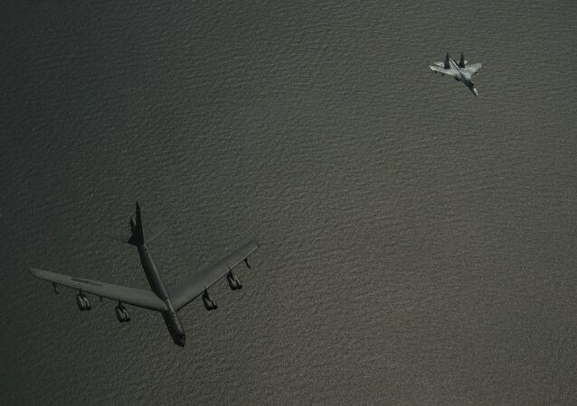 Rus uçağının ABD uçağına önleme yaptığı anın görüntüleri yayınlandı