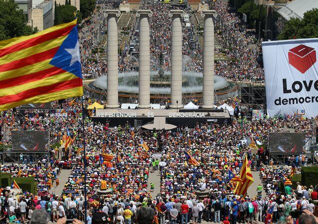 Barcelona'da bağımsızlık referandumu gösterisi