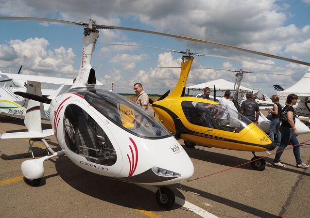Mini helikopter olarak adlandırılan gyrocopter
