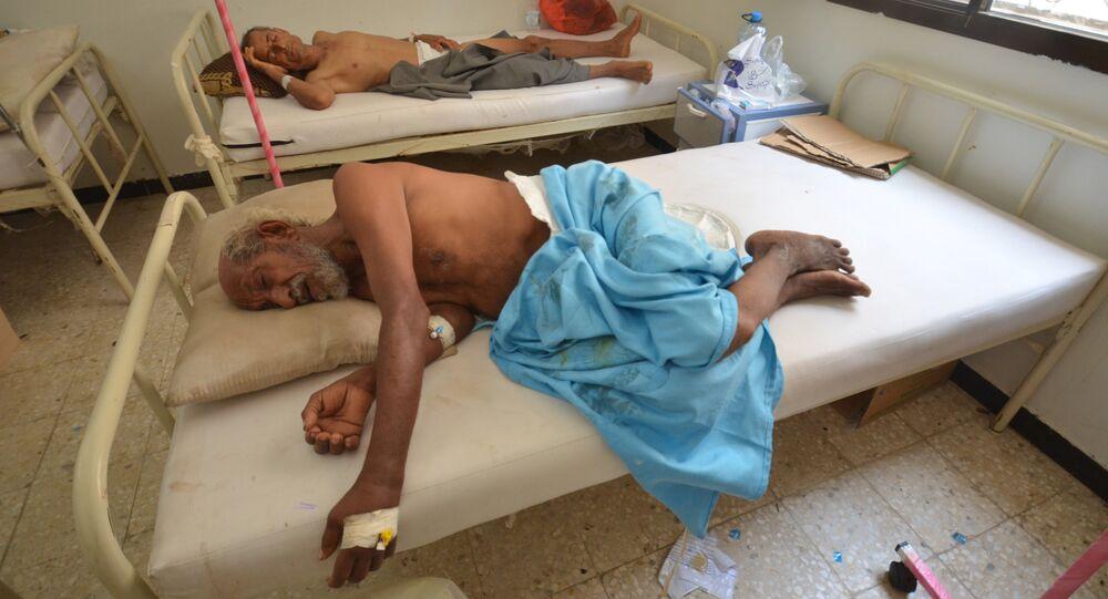 Yemen'de kolera hastaları