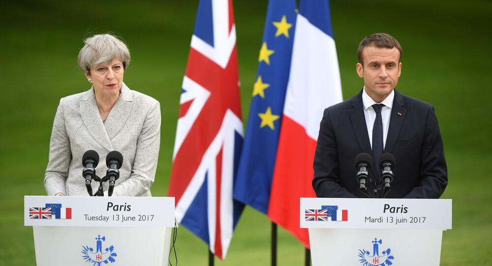 Theresa May-Emmanuel Macron