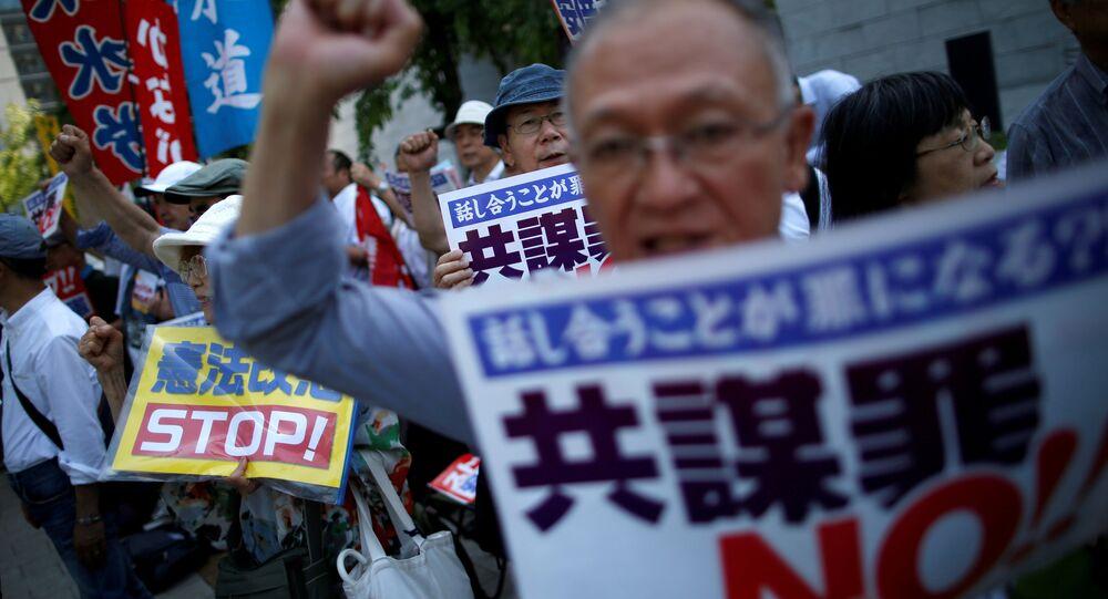 Japonya'da tartışmalı anti-terör yasası Senato'da onaylandı