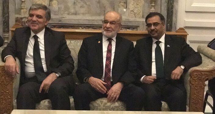 11'inci Cumhurbaşkanı Abdullah Gül, SP Lideri Temel Karamollaoğlu, Pakistan Ankara Büyükelçisi Süheyl Mahmud