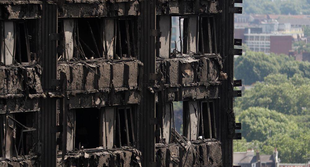 Londra'da yanan Grenfell Kulesi