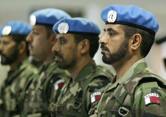 Katarlı Barış Gücü askerleri