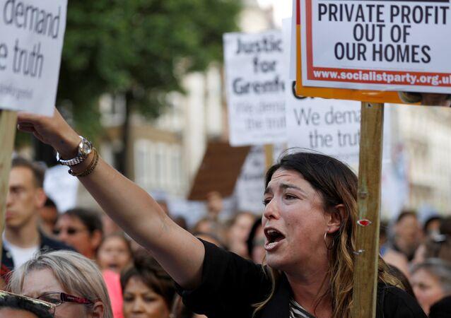 Londra'da protesto