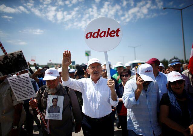 CHP Genel Başkanı Kemal Kılıçdaroğlu, 'Adalet Yürüyüşü'nde