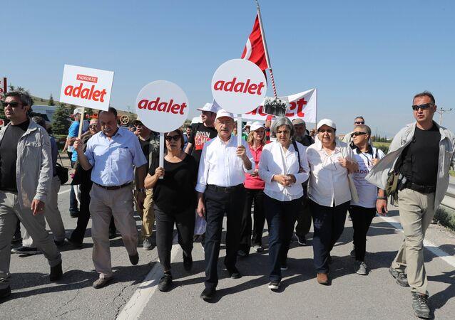 CHP Genel Başkanı Kemal Kılıçdaroğlu-Adalet Yürüyüşü