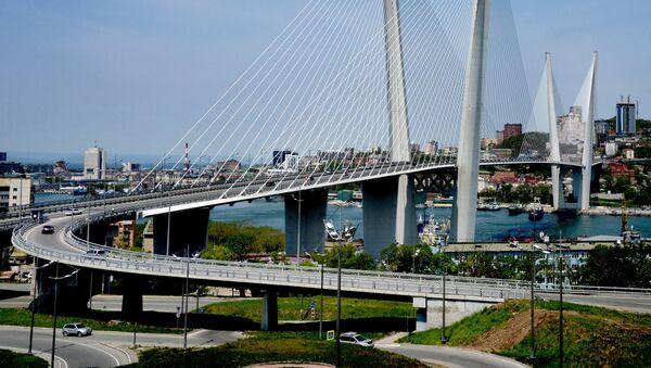 Vladivostok'taki Zolotoy Rog (Altın Boynuz) Köprüsü - Sputnik Türkiye