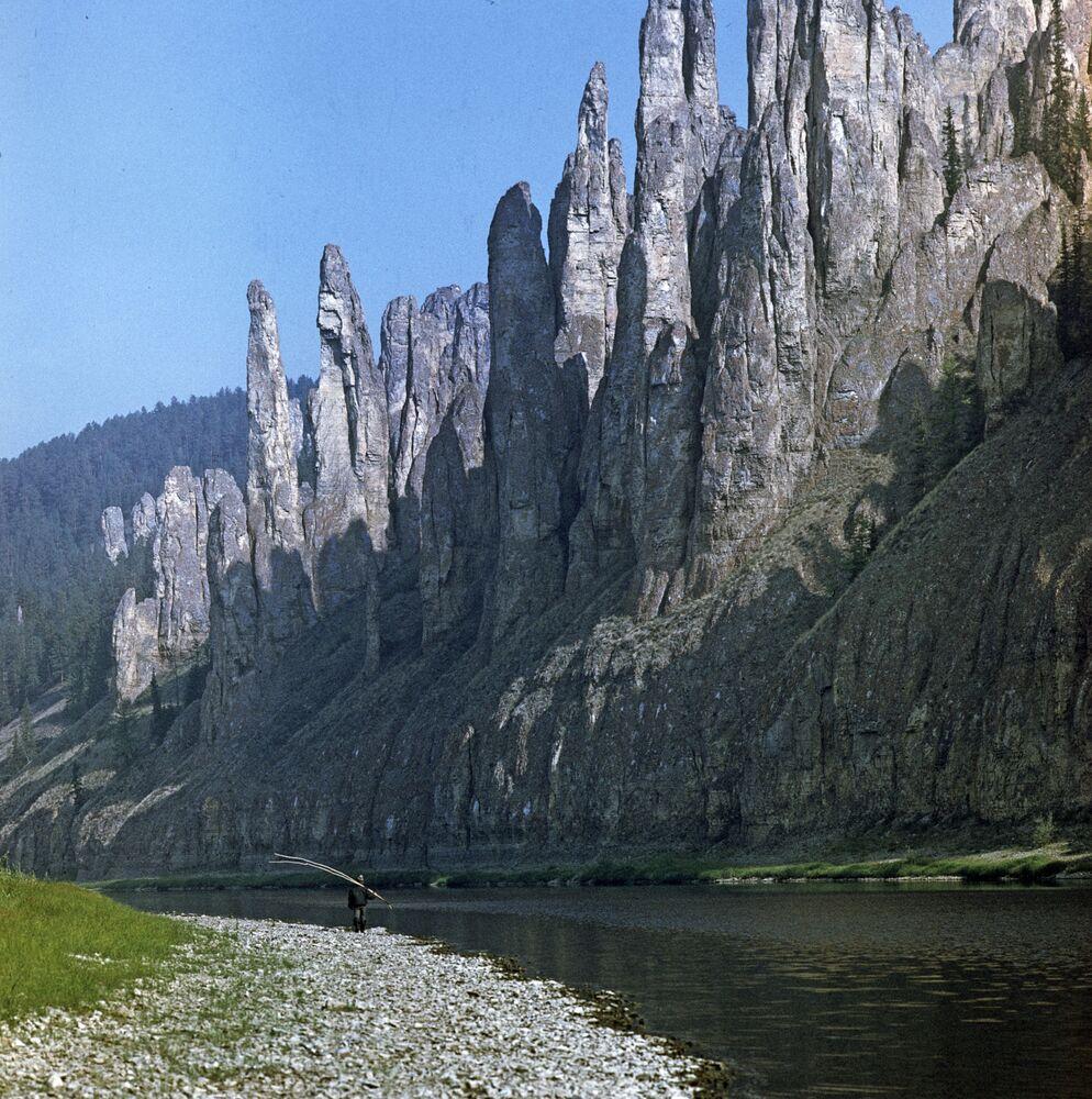 Doğu Sibirya'nın Lena nehri kıyısında yer alan Lena Sütunları