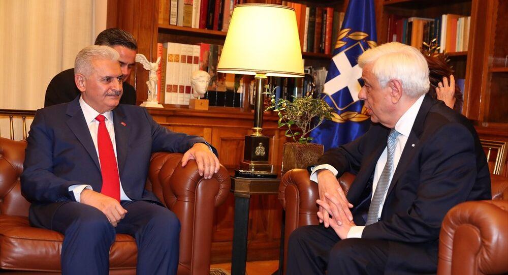 Başbakan Binali Yıldırım-Yunanistan Cumhurbaşkanı Prokopis Pavlopoulos