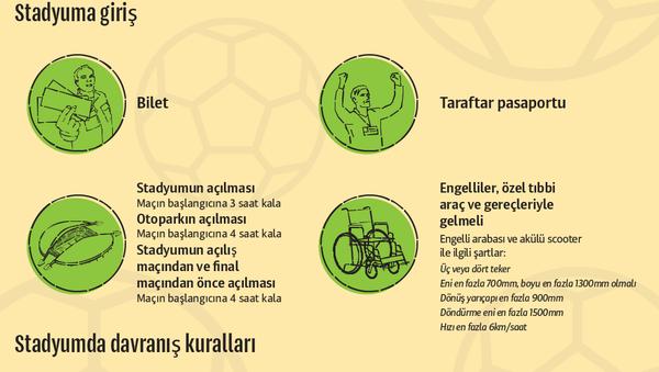 Konfederasyonlar Kupası maçlarında izleyicilerin davranış kuralları - Sputnik Türkiye