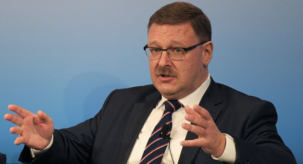 Konstantin Kosachev, Chairman of the Federation Councils' Foreign Affairs Committee. (File)