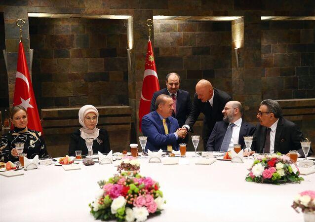 Recep Tayyip Erdoğan - Ferit Şahenk - Aydın Doğan - Mustafa Varank
