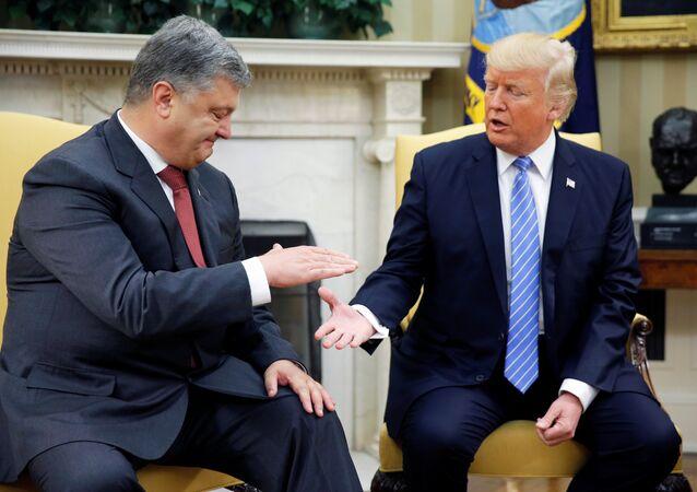 Ukrayna Devlet Başkanı Petro Poroşenko- ABD Başkanı Donald Trump