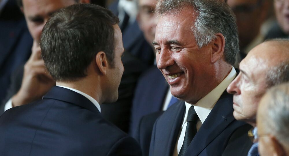 Emmanuel Macron-François Bayrou