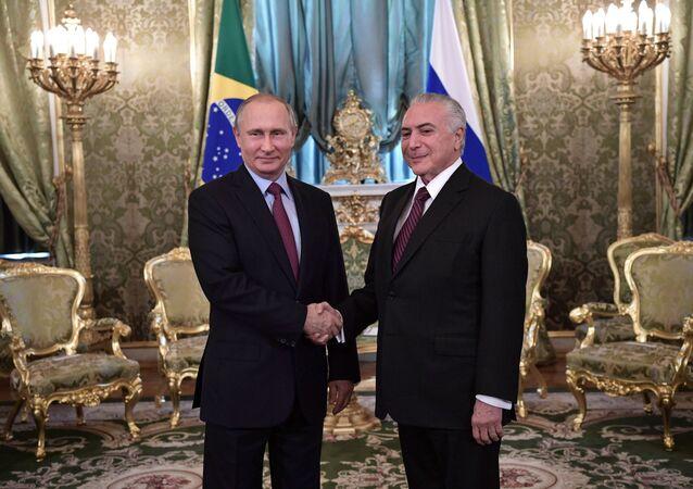 Vladimir Putin ve Michel Temer