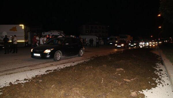 Düzce'de Adalet Yürüyüşü kampının yanına gübre döküldü - Sputnik Türkiye