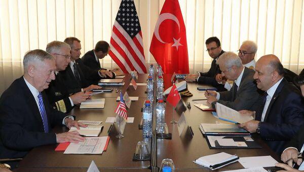 Milli Savunma Bakanı Fikri Işık ile ABD Savunma Bakanı James Mattis - Sputnik Türkiye