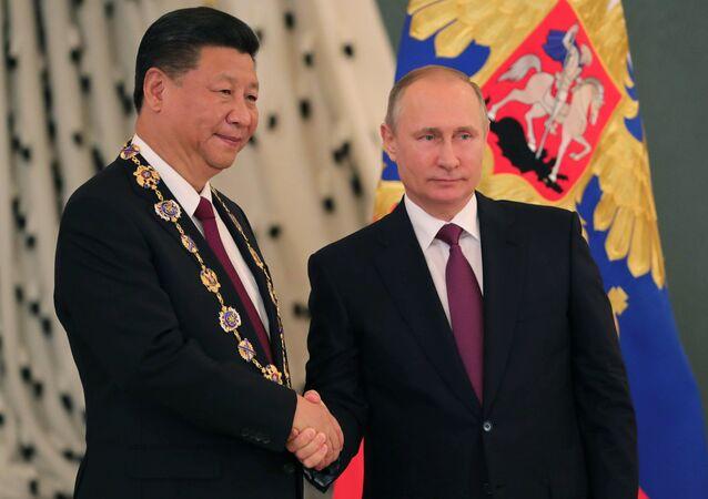 Çin Devlet Başkanı Şi Cinping- Rusya Devlet Başkanı Vladimir Putin