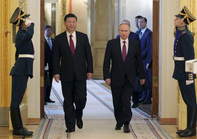 Çin Devlet Başkanı Şi Cinping-Rusya Devlet Başkanı Vladimir Putin