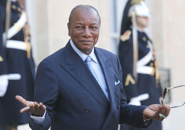 President of Guinea Alpha Conde