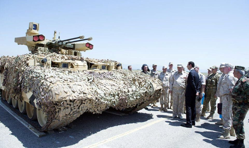 Rus BMPT-72 tankı 'Terminatör 2' Hmeymim Üssü