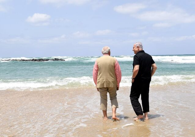 Hindistan Başbakanı Narendra Modi - İsrail Başbakanı Benyamin Netanyahu