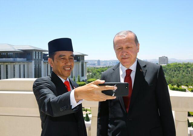 Endonezya Cumhurbaşkanı Joko Widodo - Cumhurbaşkanı Recep Tayyip Erdoğan