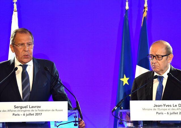 Rusya Dışişleri Bakanı Sergei Lavrov - Fransa Dışişleri Bakanı Jean-Yves Le Drian