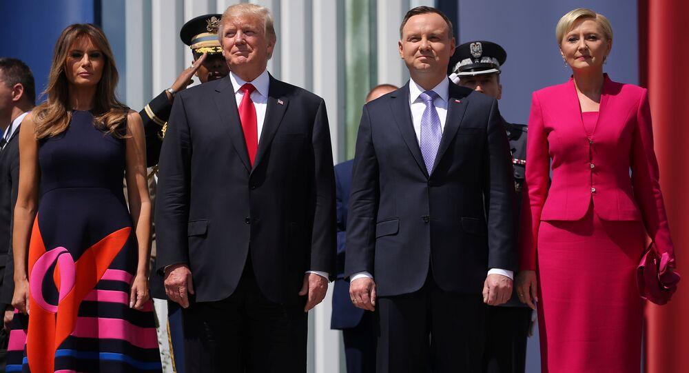 Donald Trump-Melania Trump- Andrzej Duda- Agata Kornhauser-Duda