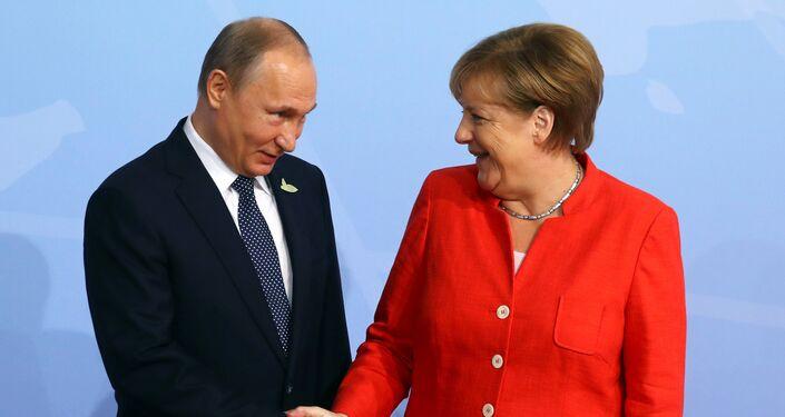 G20 Liderler Zirvesi, Hamburg'da başladı: Angela Merkel ve Vladimir Putin
