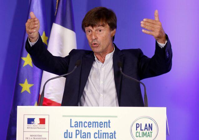 Fransa Ekoloji ve Sosyal Dönüşüm Bakanı Nicolas Hulot