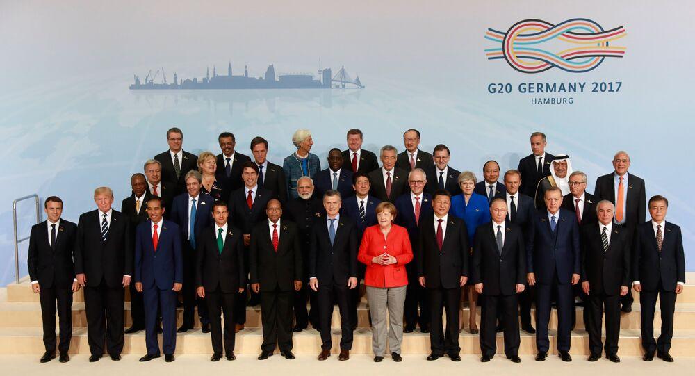 G20 Zirvesi'nde aile fotoğrafı