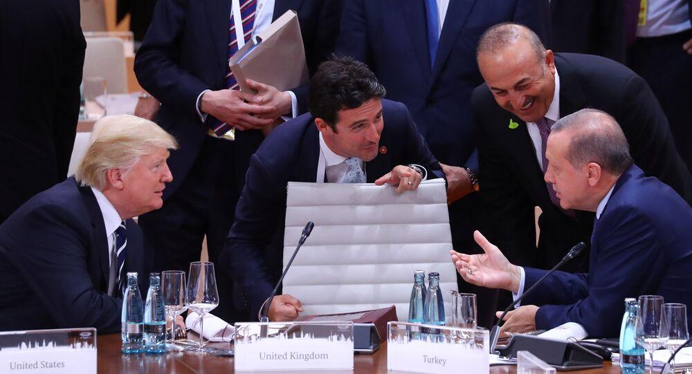 Cumhurbaşkanı Recep Tayyip Erdoğan, ABD Başkanı Donald Trump ile G20 Zirvesi'nde