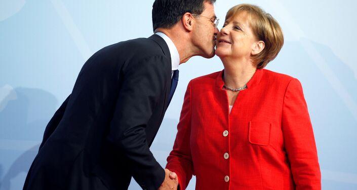 G20 Liderler Zirvesi, Hamburg'da başladı: Mark Rutte ve Angela Merkel
